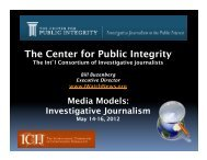 The Center for Public Integrity - Follow The Money