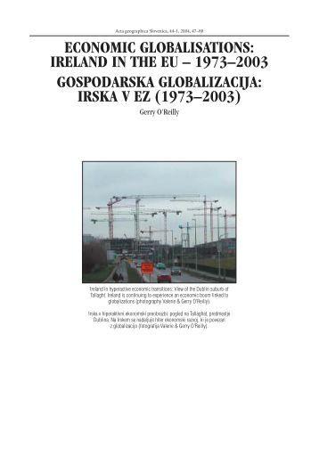 Economic Globalisations: Ireland in the EU – 1973–2003 - Acta ...