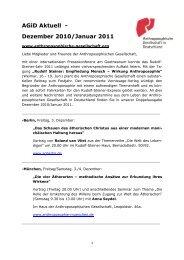 Dezember 2010/Januar 2011 - Anthroposophische Gesellschaft in ...