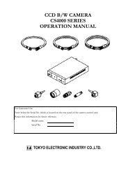 ccd b/w camera cs4000 series operation manual - Site ftp Elvitec