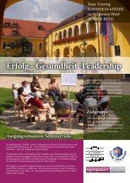 Erfolg - Gesundheit -Leadership - Symposion Hotels