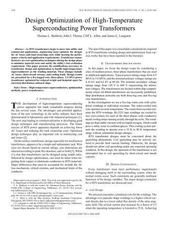 Design optimization of high-temperature superconducting power ...