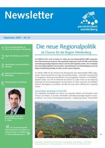 September 2007 - Region Werdenberg