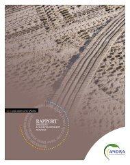 Rapport d'activité et de développement durable - Andra