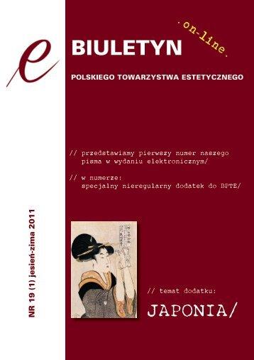 E-Biuletyn PTE nr 19 (1) 2011.pdf - Instytut Filozofii UJ w Krakowie