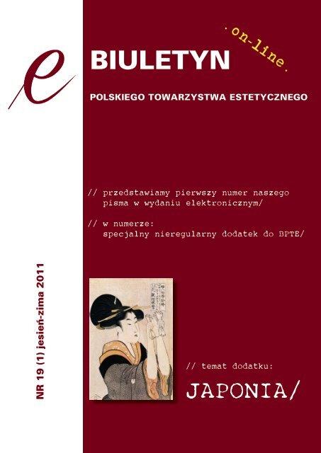 E Biuletyn Pte Nr 19 1 2011pdf Instytut Filozofii Uj W