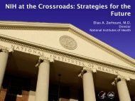 NIH at the Crossroads: Strategies for the Future - National Institutes ...