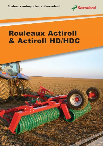 Rouleaux Actiroll & Actiroll HD/HDC - Jacopin Equipements Agricoles