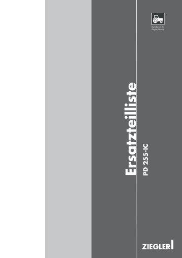 Ersatzteilliste PD 255-IC