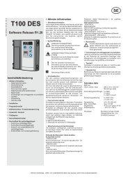 T100 Manual installation, drift och kontrollbok - Novoferm