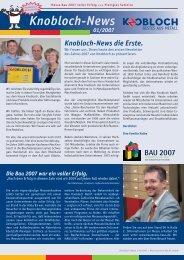 Knobloch-News N - Max Knobloch Nachf. Gmbh