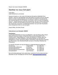 Startklar ins neue Schuljahr - Schulen Ruswil