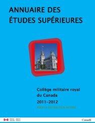 Annuaire des études supérieures 2011-2012 (version PDF, 1.73 Mo)