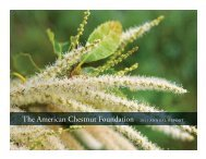 The American Chestnut Foundation 2011 ANNUAL REPORT