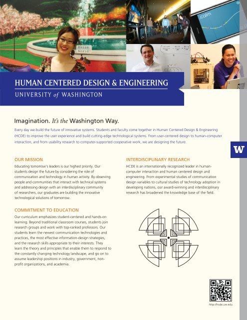 Hcde Fact Sheet Human Centered Design Engineering
