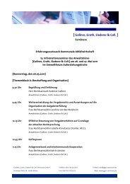 Programm und Anmeldung - GGSC Seminare