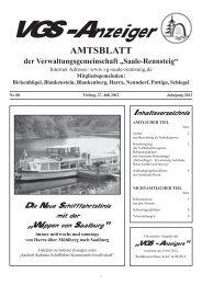 AMTSBLATT der Verwaltungsgemeinschaft - VG Saale-Rennsteig