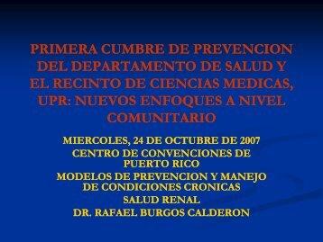 Sesión 13: Salud renal - Departamento de Salud