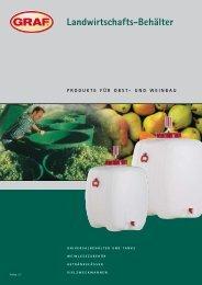 Landwirtschafts-Behälter - Otto Graf GmbH