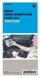MW810 Mobile Workstation User Guide - Motorola Solutions