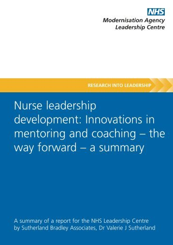 'Nurse Leadership Development' (PDF) - Manchester Business School