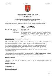 Protokoll der 19. Gemeinderatssitzung - Marktgemeinde Wildon