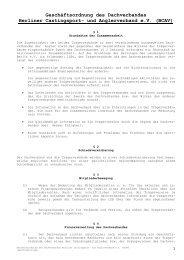 Geschäftsordnung des BCAV - VDSF LV Berlin-Brandenburg e.V.
