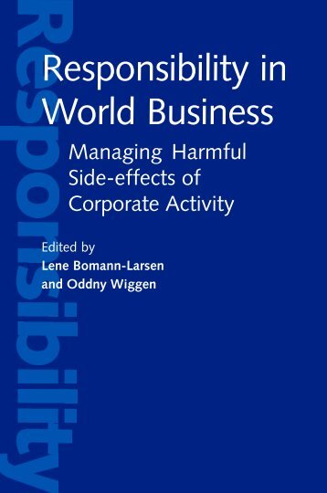 Responsibility in world business - United Nations University