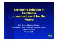 Kelly Bird and Edimon Ginting Presentation to the Cambodia ...