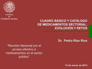 Cuadro Básico y Catálogo de Medicamentos sectorial