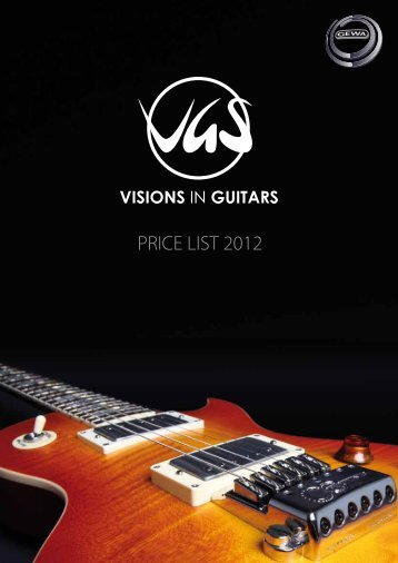 PRICE LIST 2012 - VGS Guitars