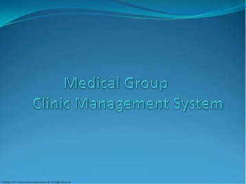Medical Group Clinic Management System - Electronic Health ...