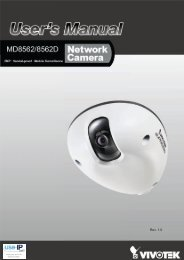 Vivotek MD8562 Fixed Dome Network Camera User Manual - Use-IP