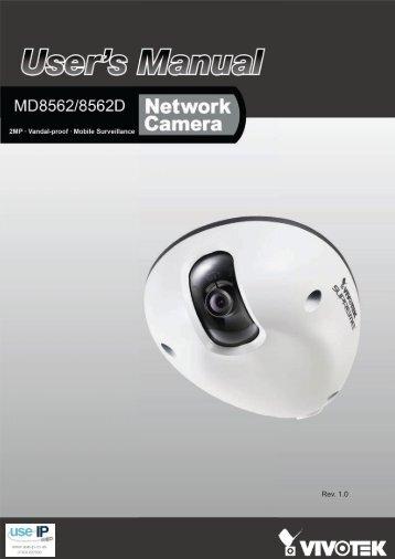 Vivotek MD8562 Fixed Dome Network Camera User Manual - Use-IP