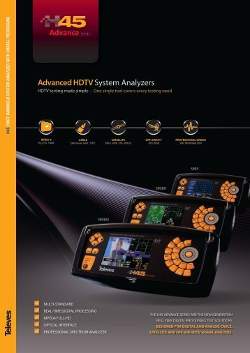 Get the app now - Televes -> H45 : Advanced HDTV System Analyzers