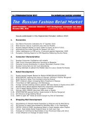 The Russian Fashion Retail Market - Igedo Company