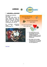 Leefsleutels - Lions Clubs International - MD 112 Belgium