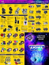 bubble machines foam/snow machines foggers strobes mirror ball ...