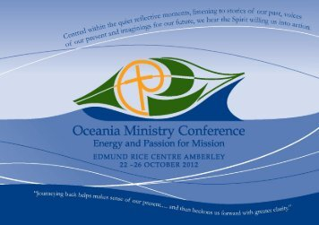Ministry Conference Booklet - Edmund Rice
