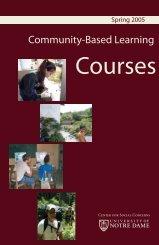 Spring 2005 booklet (pdf) - Center for Social Concerns - University ...