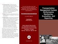 Transportation Management System Performance Monitoring ...