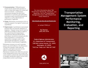 Transportation Management System Performance Monitoring ...