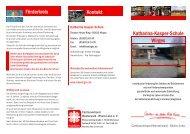 der neue Flyer als PDF-Date - Katharina-Kasper-Schule