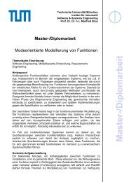 Master-/D iplom arb eit - Software and Systems Engineering - TUM