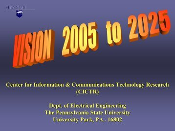 Vision - Center for Information and Communications Technology ...