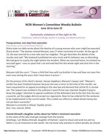 NCRI Weekly - June 3 2014-en