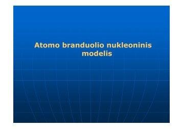 Atomo branduolio nukleoninis modelis