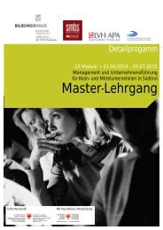 Detailprogramm Master-Lehrgang 2014-15 (Stand ... - Kloster Neustift