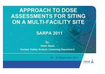 approach to dose assessments for siting on a multi ... - eventsm.co.za