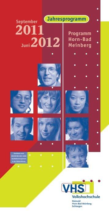 JUNGE VHS - Volkshochschule Detmold
